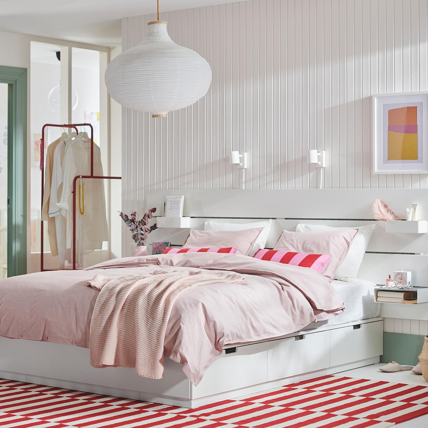 Nordli Bed With Headboard And Storage White Ikea Canada Ikea