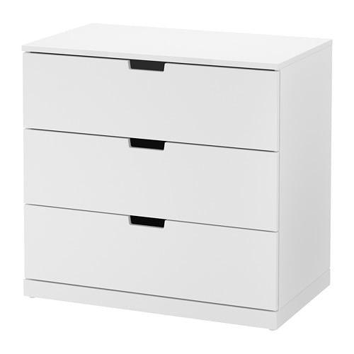 nordli 3 drawer chest white ikea. Black Bedroom Furniture Sets. Home Design Ideas