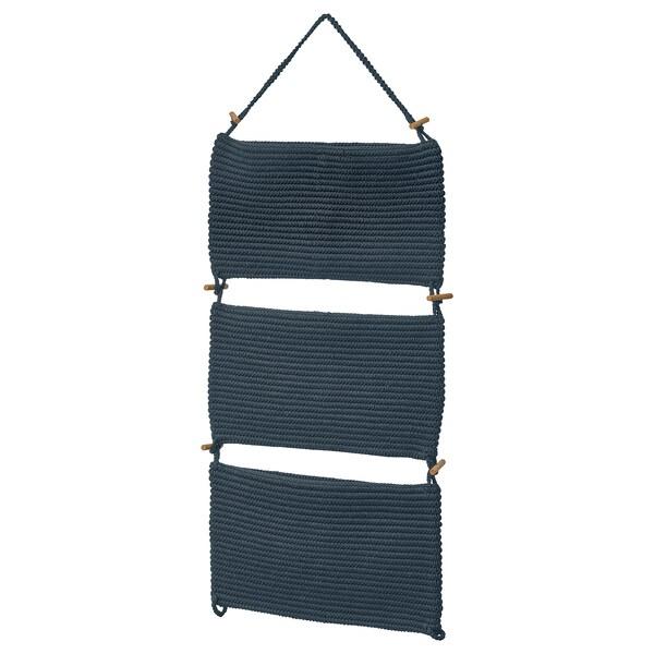 "NORDRANA Hanging storage, blue, 13 ¾x35 ½ """