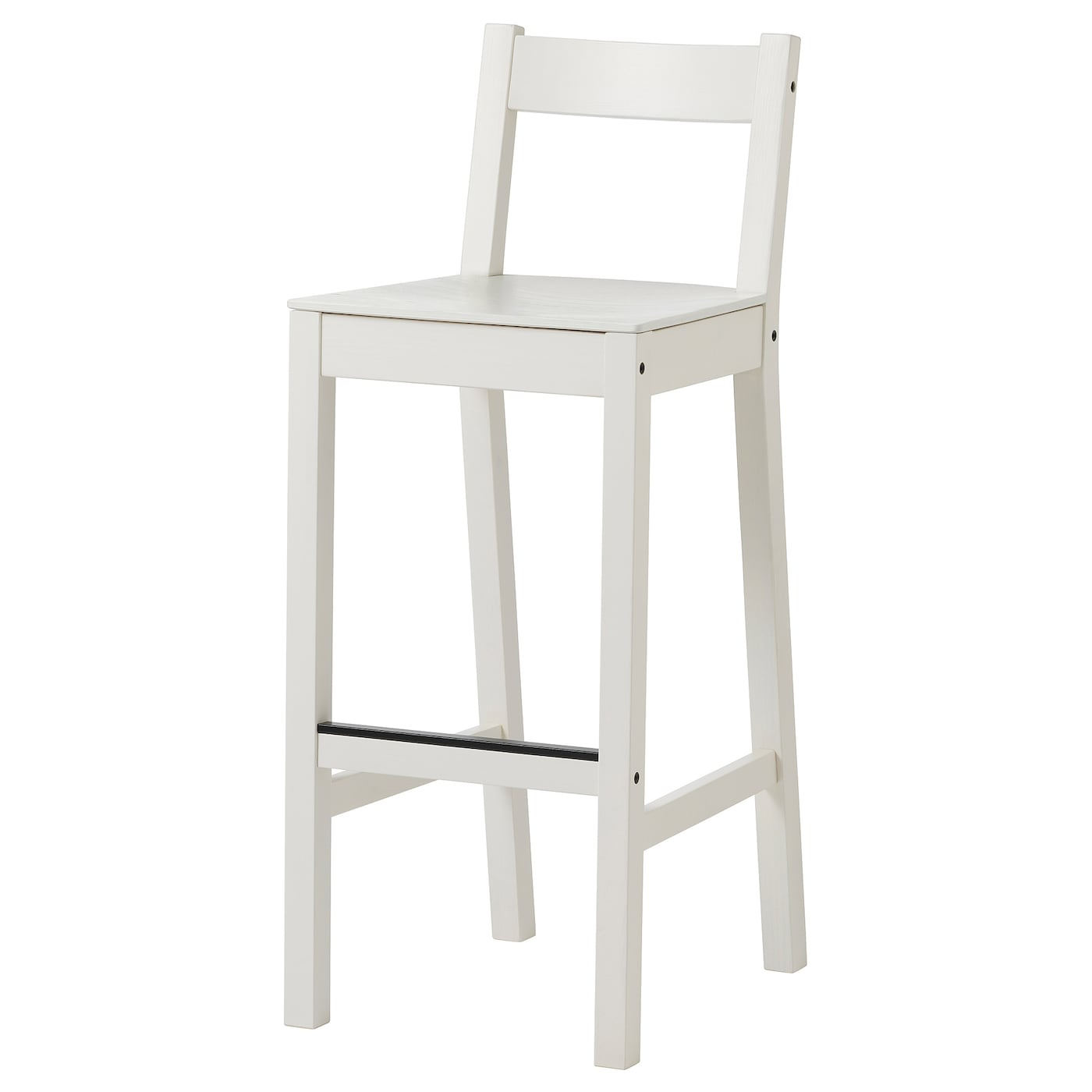 Picture of: Nordviken Bar Stool With Backrest White Ikea Canada Ikea