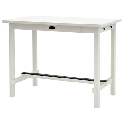 NORDVIKEN Bar table, white, 55 1/8x31 1/2x41 3/8 ""