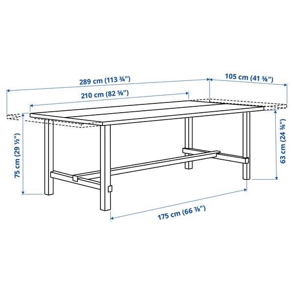 "NORDVIKEN Extendable table, antique stain, 82 5/8/113 3/4x41 3/8 """