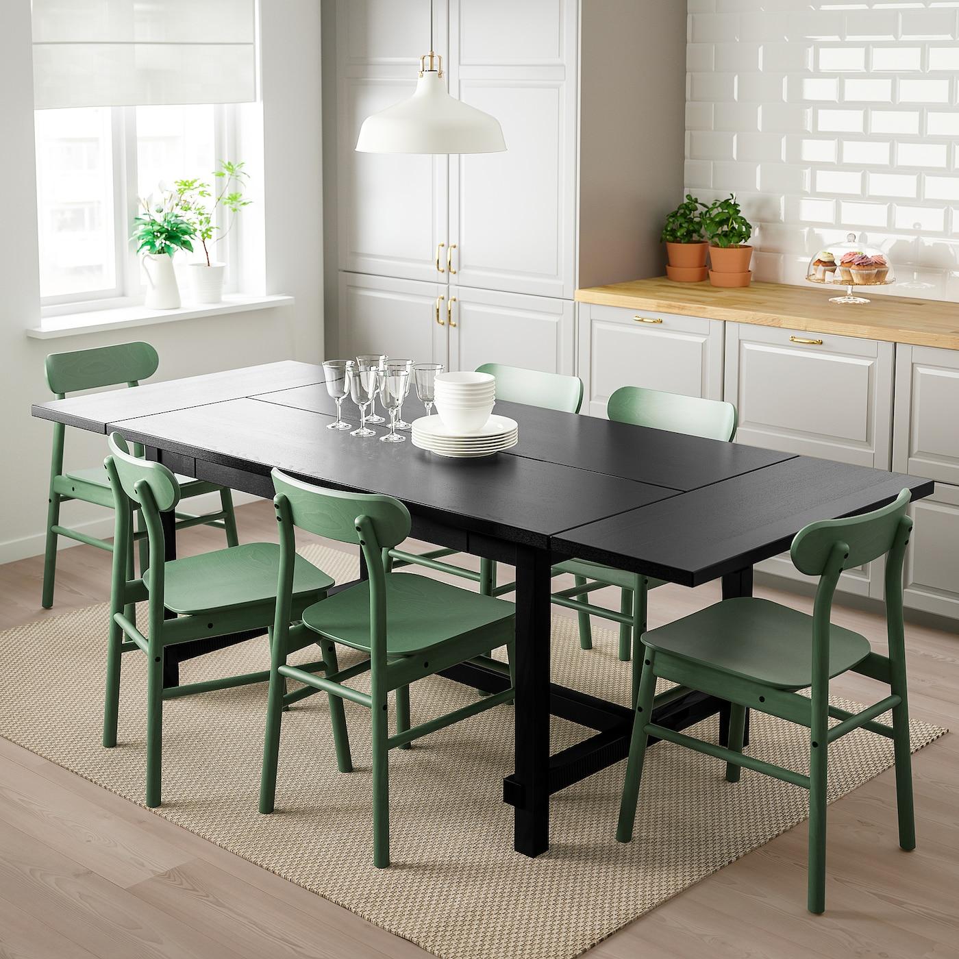 Nordviken Ronninge Table And 4 Chairs Black Green Ikea