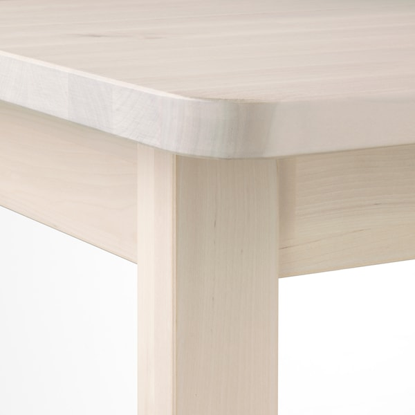 NORRÅKER Table, birch, 49 1/4x29 1/8 ""