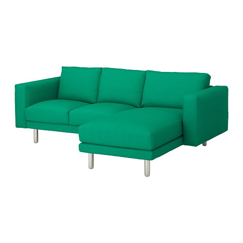 norsborg loveseat with chaise edum bright green metal. Black Bedroom Furniture Sets. Home Design Ideas