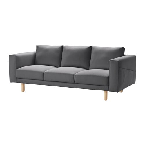 Norsborg sofa finnsta dark gray birch ikea for Ikea gray sofa