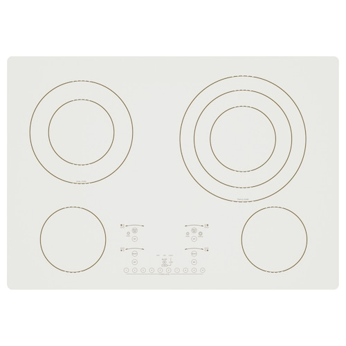 IKEA NUTID 4 element glass ceramic cooktop