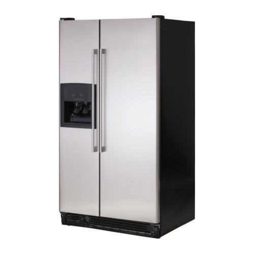 ikea ikea nutid s25 s 25 c f stainless steel fridge. Black Bedroom Furniture Sets. Home Design Ideas