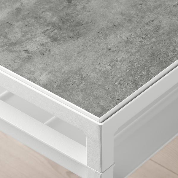 "NYBODA Coffee table w reversible table top, light gray concrete effect/white, 47 1/4x15 3/4x15 3/4 """