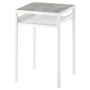 Color: Light gray concrete effect/white.