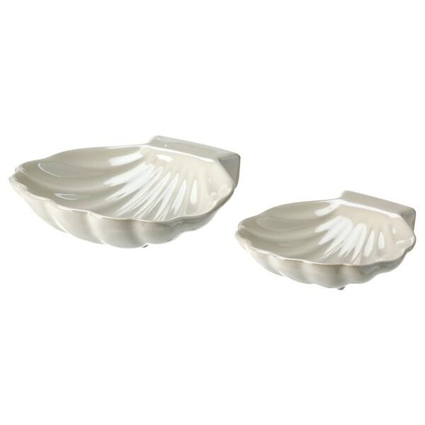 NYFÅNGAD Decoration, set of 2, shell white