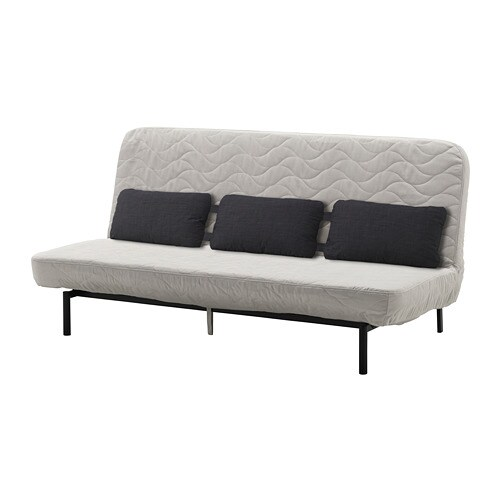 nyhamn sleeper sofa with triple cushion with foam. Black Bedroom Furniture Sets. Home Design Ideas