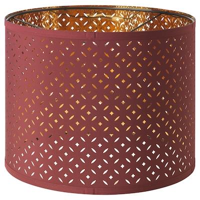 "NYMÖ Lamp shade, dark red/brass color, 13 """