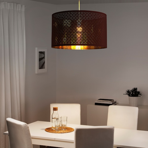 "NYMÖ Lamp shade, dark red/brass color, 23 """