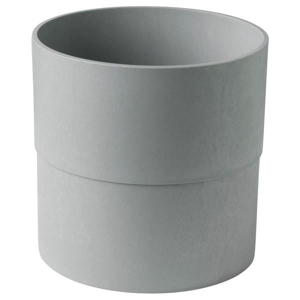 "NYPON Plant pot, indoor/outdoor gray, 9 ½ """
