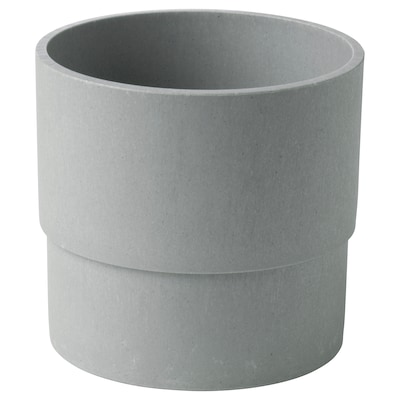 NYPON Plant pot, indoor/outdoor gray, 4 ¾ ""