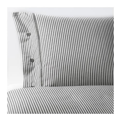 NYPONROS Duvet cover and pillowcase(s), gray