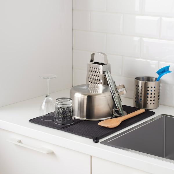 """NYSKÖLJD Dish drying mat, dark gray, 17 ¼x14 ¼ """""""
