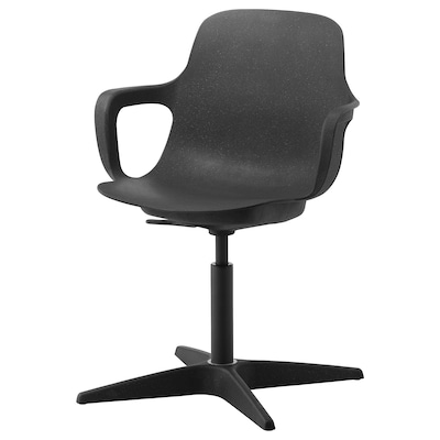 """ODGER swivel chair anthracite 243 lb 26 3/4 """" 26 3/4 """" 35 3/8 """" 17 3/4 """" 17 3/4 """" 16 7/8 """" 21 1/4 """""""