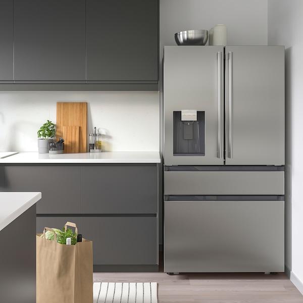 ÖVERSKÅDLIG French door refrigerator, Stainless steel, 22 cu.ft