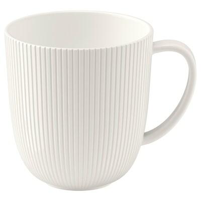 OFANTLIGT Mug, white, 10.5 oz