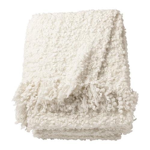 OFELIA Throw IKEA Magnificent White Fluffy Throw Blanket