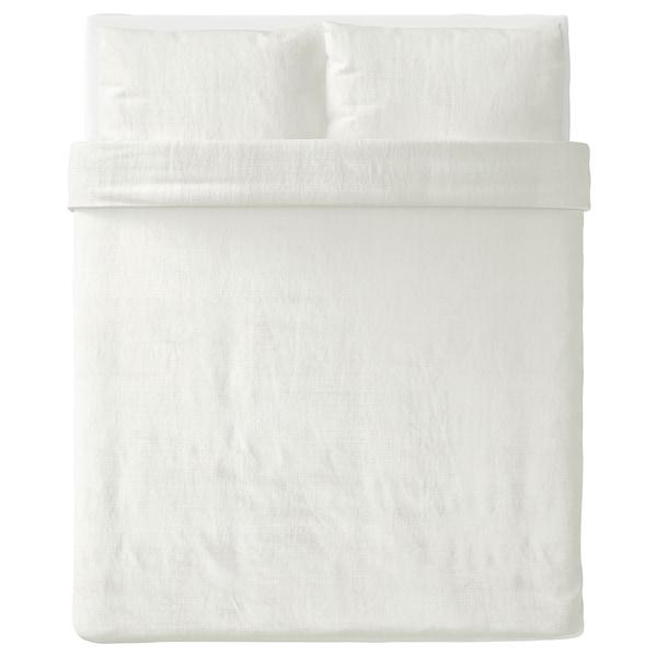OFELIA VASS Duvet cover and pillowcase(s), white, Full/Queen (Double/Queen)