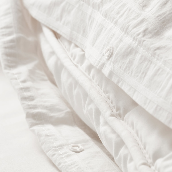 OFELIA VASS Duvet cover and pillowcase(s), white, Twin