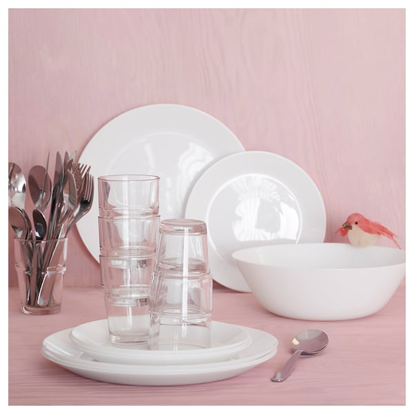 """OFTAST Side plate, white, 7 ½ """""""