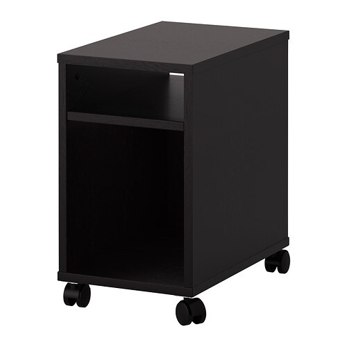Oltedal nightstand black brown ikea - Meuble industriel ikea ...