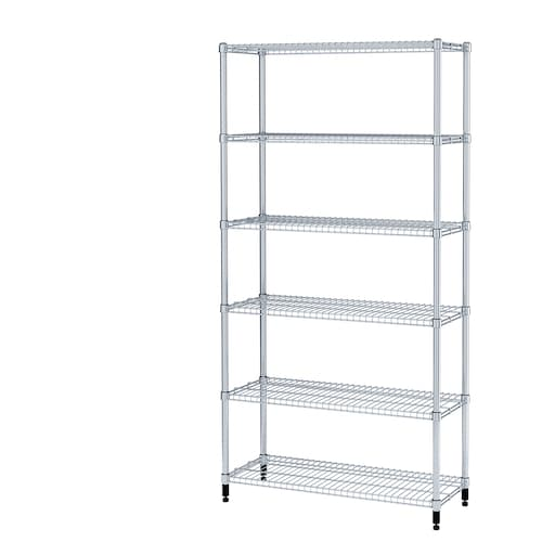 "OMAR 1 section shelving unit 36 1/4 "" 14 1/8 "" 71 1/4 """