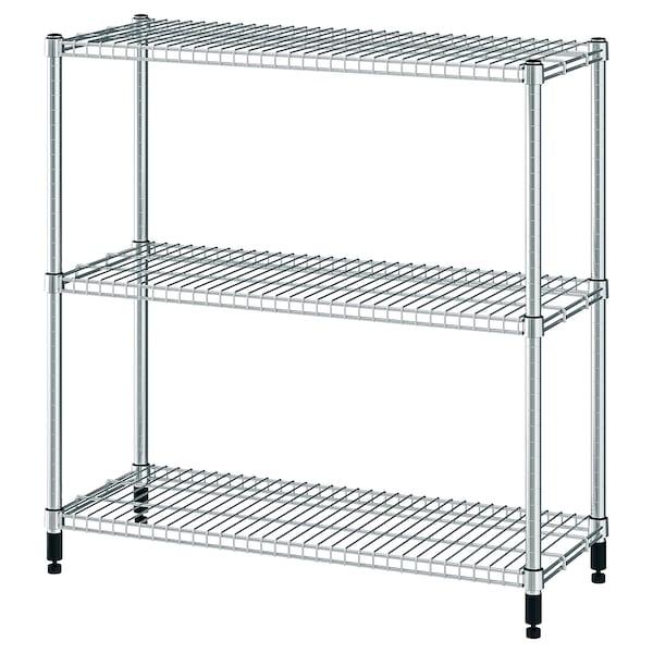 Omar Shelf Unit Galvanized Ikea