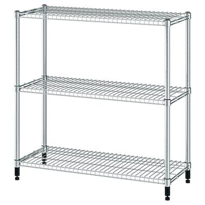 "OMAR Shelf unit, galvanized, 36 1/4x14x37 """