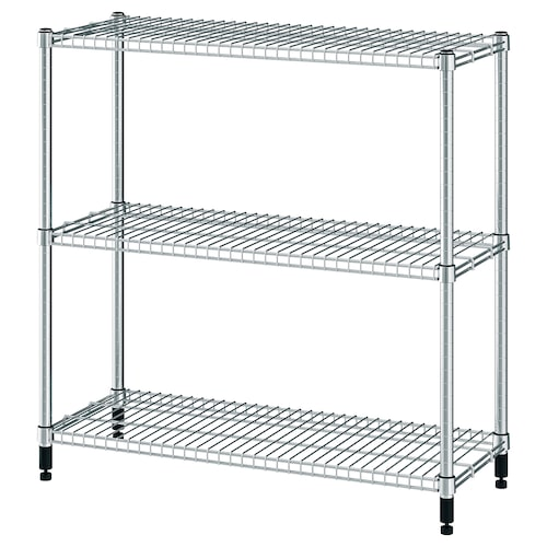 "OMAR shelf unit galvanized 36 1/4 "" 14 "" 37 "" 73 lb"