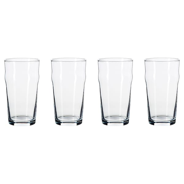 OMFATTANDE Beer glass, clear glass, 19 oz
