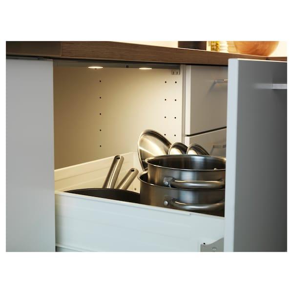 """OMLOPP LED light strip for drawers, aluminium-colour, 23 """""""