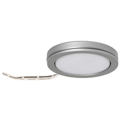 "OMLOPP LED spotlight, aluminium-colour, 2 5/8 """