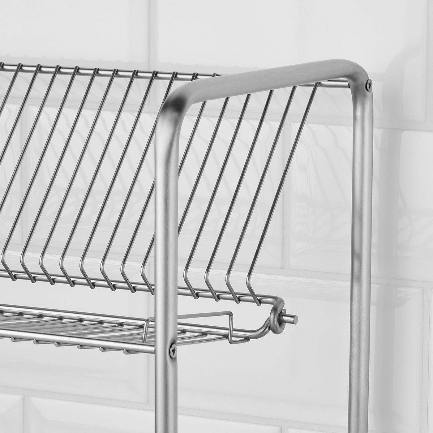Ordning Dish Drainer Stainless Steel 19 5 8x10 5 8x14 1 8 50x27x36 Cm Ikea