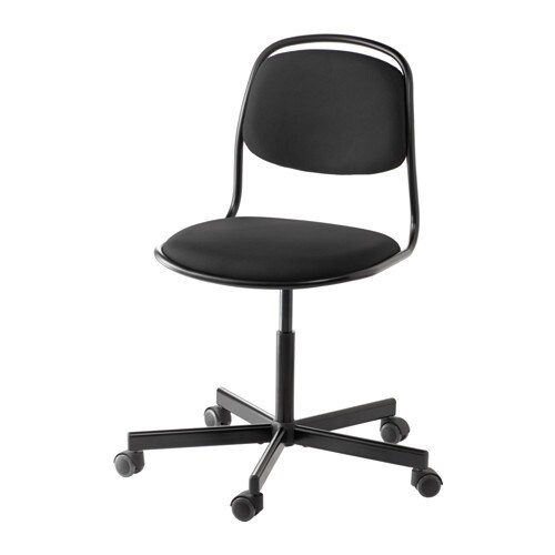 ÖRFJÄLL / SPORRENSwivel chair, black