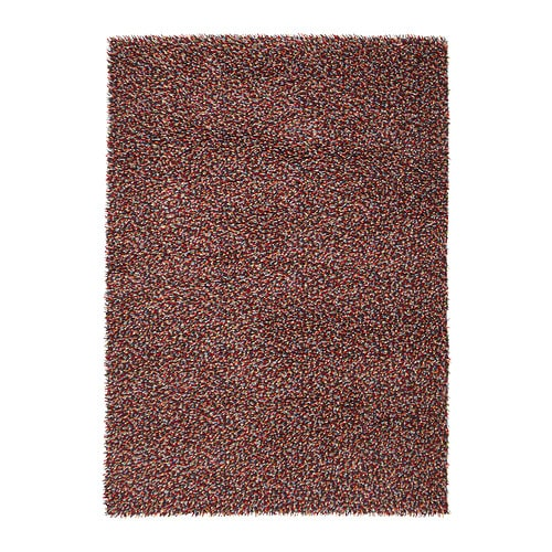 ÖRSTED Rug, high pile   The rug is made of pure new wool so it's naturally soil-repellent and very durable.