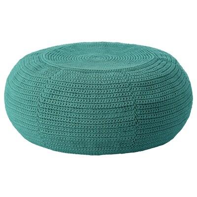 "OTTERÖN Pouffe cover, indoor/outdoor, dark green, 22 7/8 """