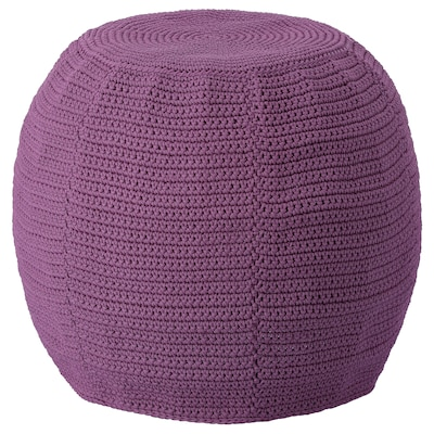 OTTERÖN Pouffe cover, indoor/outdoor, purple, 18 7/8 ""