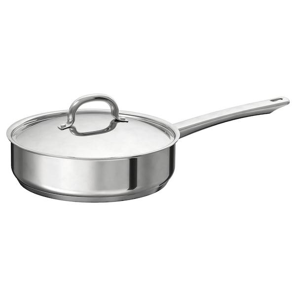 """OUMBÄRLIG Sauté pan with lid, 9 ½ """""""