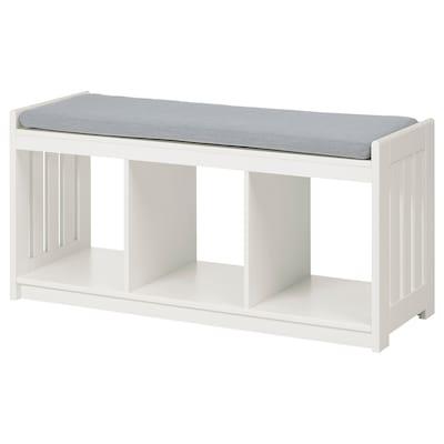 PANGET Storage bench, white