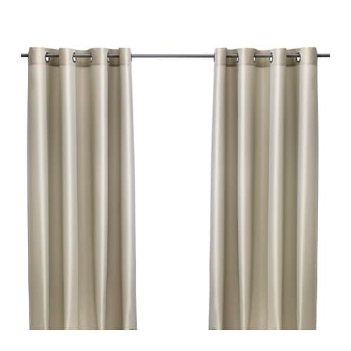 PÄRLBUSKE Curtains, 1 pair   The curtains have an elegant shimmer because two different colors are woven into the fabric.
