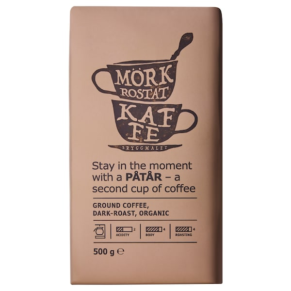 PÅTÅR Ground coffee, dark roast, organic/UTZ certified/100 % Arabica beans