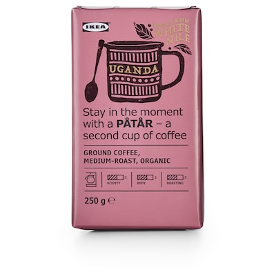 PÅTÅR Ground coffee, medium roast, Uganda/100 % Arabica beans/UTZ certified/organic