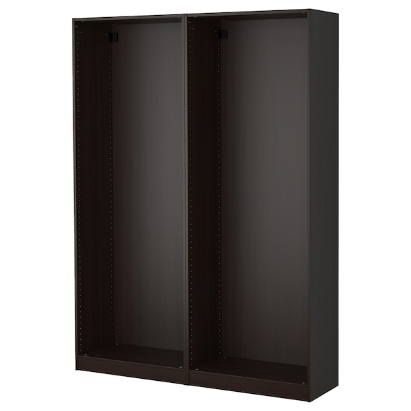 PAX 2 wardrobe frames, black-brown, 59x13 3/4x79 1/4 ""