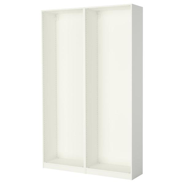 "PAX 2 wardrobe frames, white, 58 7/8x13 3/4x93 1/8 """