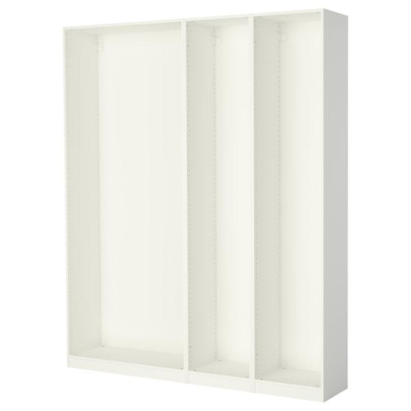 "PAX 3 wardrobe frames, white, 78 5/8x13 3/4x93 1/8 """